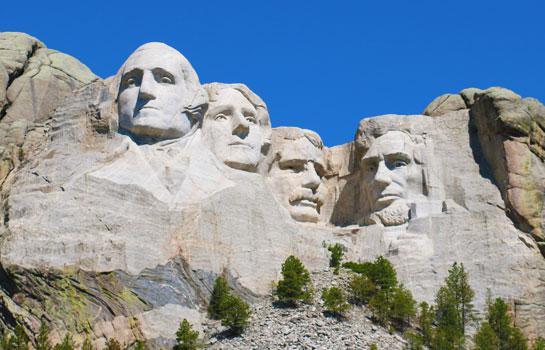 7日 總統巨像, 黃石公園, 瘋馬雕像, 魔鬼峰, 大提頓, 西部尼加拉瀑布